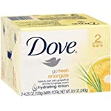 Dove Go Fresh Energize Grapefruit and Lemongrass, Beauty Bar Soap 4.25 Oz, 2 Count, (Pack of 4) 8 Bars Total
