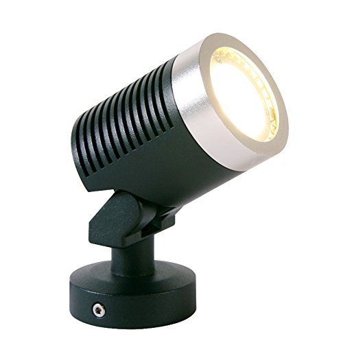 Arcus Alluminio Nero - LED bianco caldo 5W