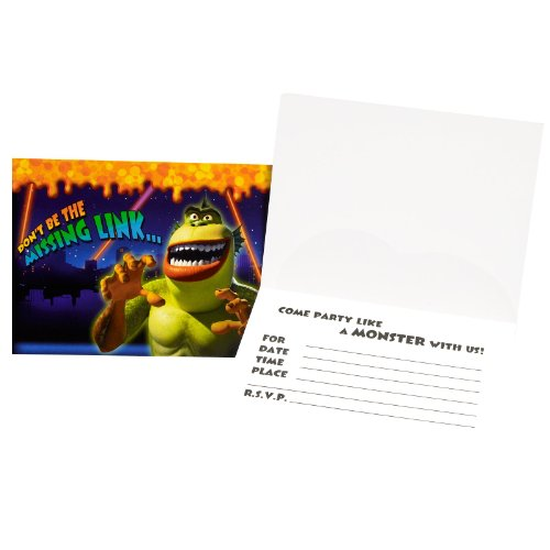 Monsters vs. Aliens Invitations (8 count) Party Accessory - 1