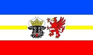 Qualitäts Fahne Flagge Mecklenburg-Vorpommern 90 x 150 cm mit verstärktem Hissband