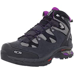 Salomon Women's Comet 3D Lady GTX Hiking Boot,Pewter/Asphalt/Anemone Purple