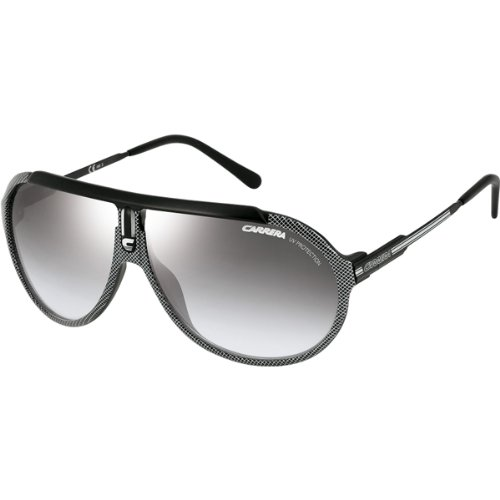 Carrera Endurance/R/S Adult Race Wear Sunglasses/Eyewear – Color: Black Silver/Semi Matte Black/Gray Mirror Gradient Silver