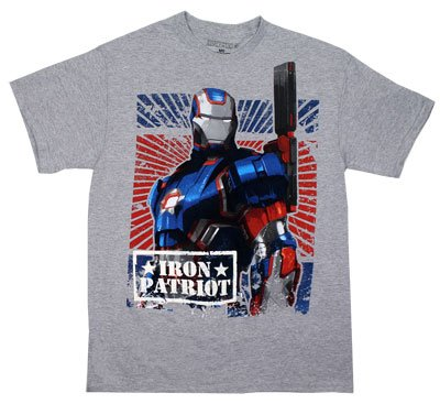 Iron Man Marvel Comics Iron Patriot Rust Free Adult Superhero Movie T-Shirt Tee
