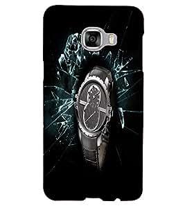 PrintVisa Modern Art Watch 3D Hard Polycarbonate Designer Back Case Cover for Samsung C5