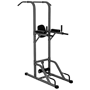 XMark VKR Vertical Knee Raise with Dip and Pull-up Station Power Tower XM-4432 (Gray or White)