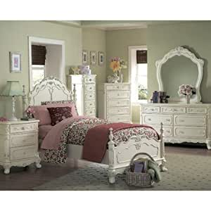 Homelegance Cinderella 6 Piece Kids 39 Poster Bedroom Set In White Furniture Decor