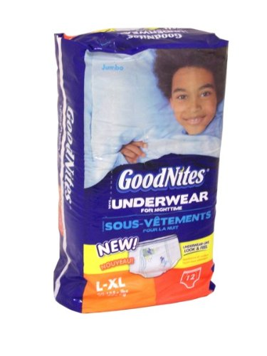 Goodnites Boys Nighttime Training Underpants - L/Xl (12Ct)