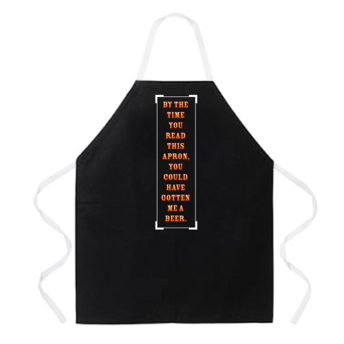 Attitude Apron By the time you read this Apron Black One Size Fits MostB001D20ESC : image