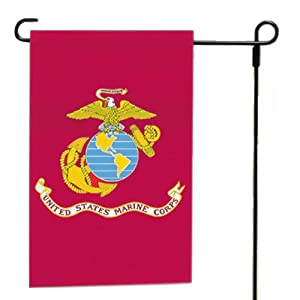 Valley Forge Flag Flag 12-Inch by 18-Inch Nylon U.S. Marine Corps Garden Flag