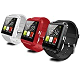 """Totoab Novelty Smart Bluetooth Wrist Watch 1.44"""" Display for IOS Android iPhone Samsung HTC (black)"""