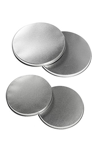 Stove Top Burner Covers - Round Tin Burner Kovers For Electric Stoves, Set of 4 by Juvale