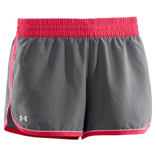 UNDER ARMOUR Great Escape II Womens Running Short - Grey / Pink