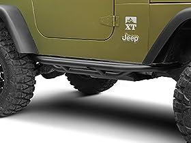 RedRock 4x4 J100183 YJ TJ Side Armor - Textured Black