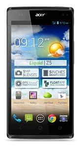 Acer Liquid Z5 Duo Smartphone débloqué 5 pouces 4 Go Android 4.2 Jelly Bean Gris
