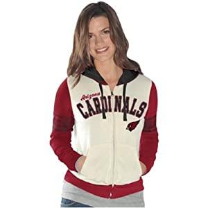 Arizona Cardinals Ladies Powerhouse Full Zip Long Sleeve Hoodie Sweatshirt by G-III Sports
