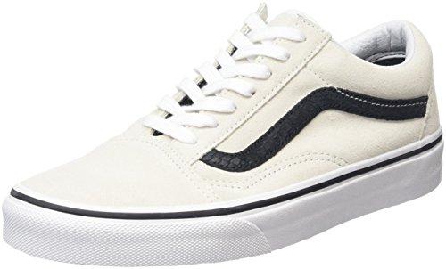 Vans Unisex Old Skool (Reptile) White/Black Skate Shoe 10 Men US / 11.5 Women US (Vans Side Stripe Old Skool compare prices)
