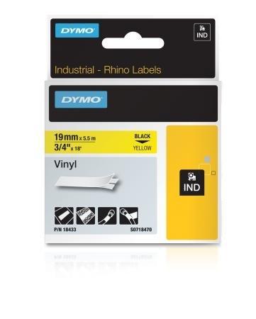 """3/4"""" Yellow Vinyl Label With White Earbud Headphones"""