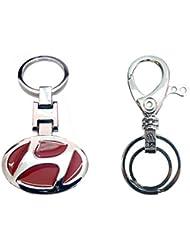 City Choice Combo Of Hyundai & Unique Design Hook & Locking Full Metal Keychain