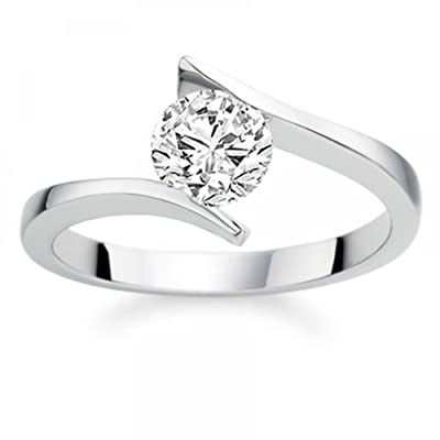 0.48 Carat G/VS1 Round Brilliant Certified Diamond Solitaire Engagement Ring in Platinum