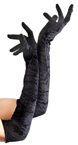 Velveteen Gloves Costume Accessory - 1