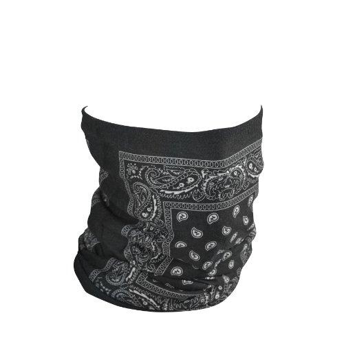 ZANheadgear Fleece Lined 'Paisley' Design Motley Tube, Black, One Size