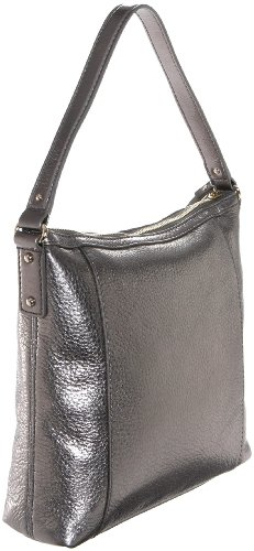 Kate Spade Darien Metallic Small Flat Serena Hobo,Mercury,one size