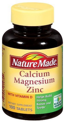 Nature Made Calcium, Magnesium, and Zinc with Vitamin D, 100 Tablets (Pack of 3)