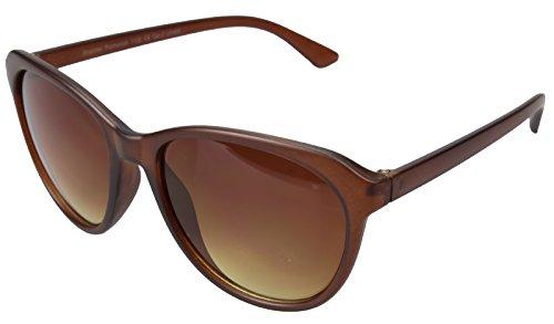 Herren Sonnenbrille / Nerd Sonnenbrille im Wayfarer Design | Farbe: Braun