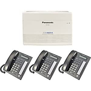 Panasonic KX-TA824 System plus (3) KX-T7731 Black