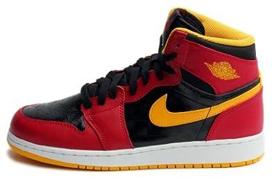 Jordan Kids 1 Retro High Og (Gs) Black University Gold Gym Red 575441-017 by Nike