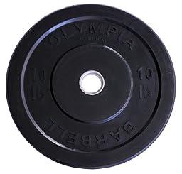 Ader Olympic Black Bumper Plates Set 4 Pair 230 Lbs