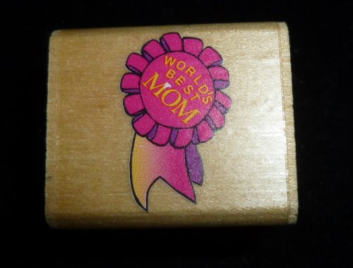 Mini World's Best Mom Rubber Stamp - 1