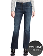 Petite Slim Fit Denim Bootleg Jeans