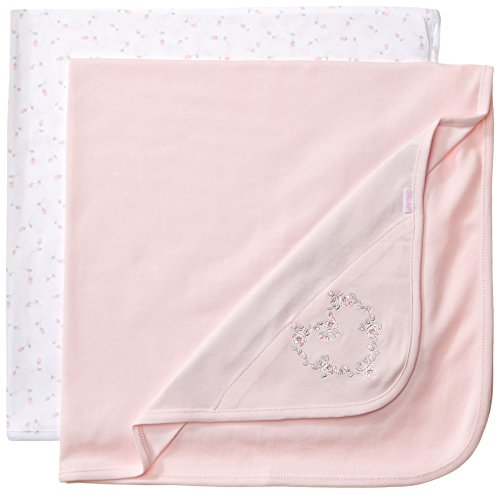 Little Me Baby-Girls Newborn Floral 2 Pack Receiving Blanket