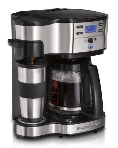 Hamilton Beach Single Serve Coffee Brewer and Full Pot Coffee Maker, 2-Way (49980)(Certified Refurbished) (Hamilton Beach Large Coffee Maker compare prices)