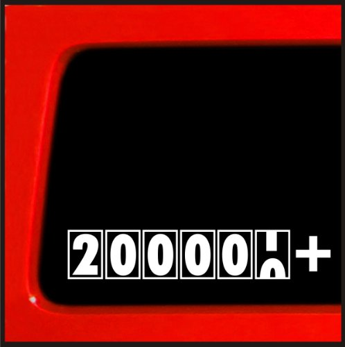 200,000 + Miles - JDM Sticker Decal import truck diesel 4x4 funny car vinyl (Cummins Turbo Diesel Sticker compare prices)