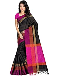 Fabattic Tassar Silk Saree (Chi16564B_Black)