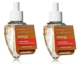 Orange Ginger Aromatherapy Energy Wallflowers - TWO Refill Bulbs - Bath & Body Works