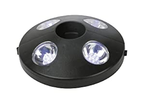 lampe beleuchtung sonnenschirm 24 led wei es licht. Black Bedroom Furniture Sets. Home Design Ideas