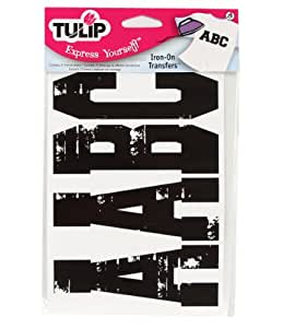 Tulip Iron-On Transfers Letters Value Pack- Black Letters