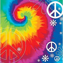 ShindigZ Tie Dye Fun Beverage Napkins - 8-Pack - 1