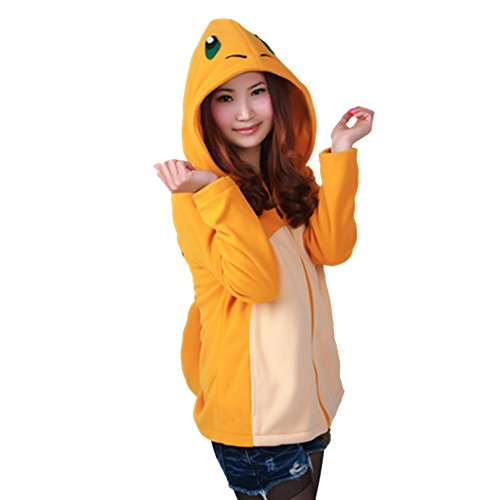 Engerla Adult Fire Dragon Cosplay Hoodie Jacket Coat With Tail