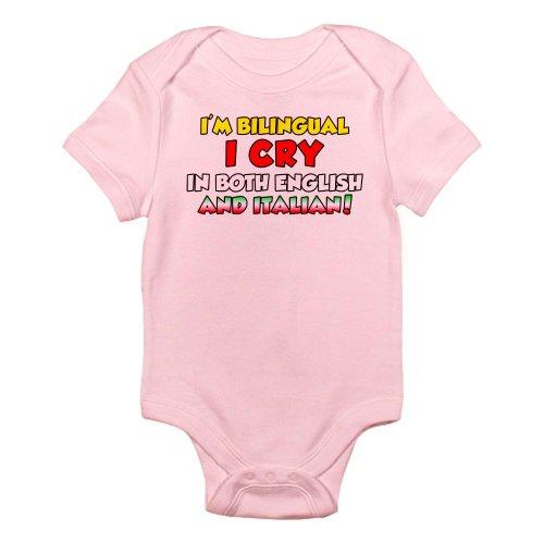 Cafepress Bilingual Italian Infant Bodysuit - 0-3M Petal Pink