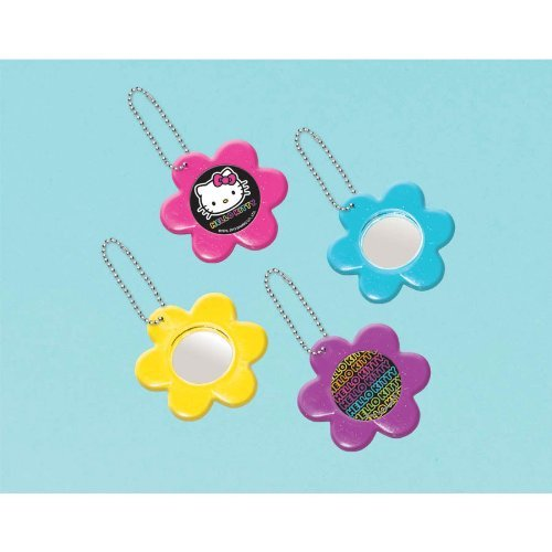 Hello Kitty Flower Mirror Keychain Party Favors-12 pieces - 1
