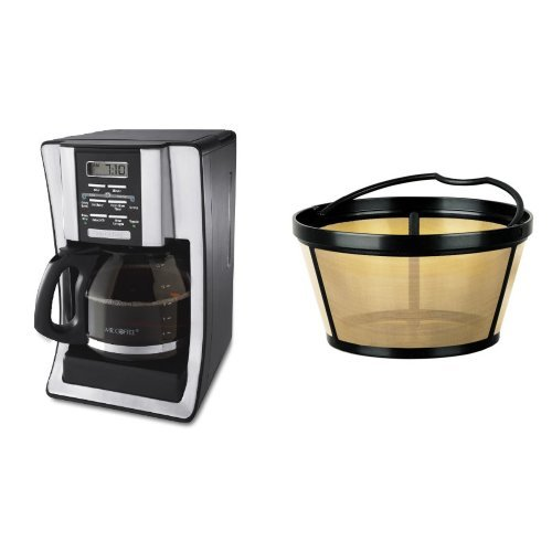 Mr Coffee Espresso Maker Filter : Get Mr. Coffee Bvmc-Sjx33Gt 12-Cup Programmable Coffeemaker And Mr. Coffee Gtf2-1 Basket-Style ...