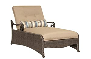good lake como patio chaise lounge chair with lumbar pillow by la z boy outdoor