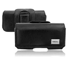 Gürteltasche Galaxy S4 Mini Samsung i9195 Schwarz Slim Leder Handy Schutz Tasche Clip Edel
