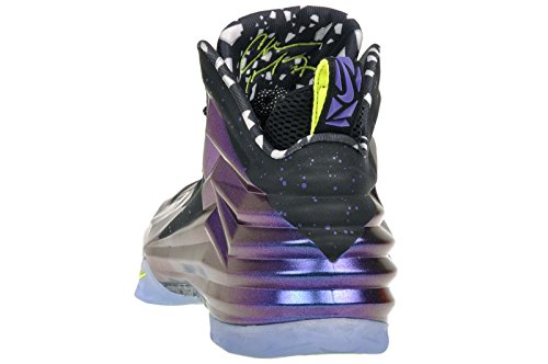 pictures of Nike Mens Chuck Posite Basketball Shoes Cave Purple/Bright  Mango 684758-500