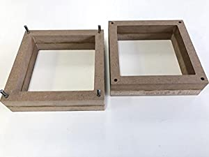 2-Part Foundry Wood Flask Mold for Sand Casting Jewelry Or Craft Making Tool 6x6x4 (Color: Wooden)
