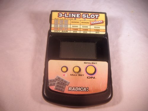 Radica BAR BAR BAR 3-LINE SLOT LCD Handheld Radica Model:2871 - 1